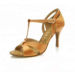 Modell DL-27 Dark Tan Satin, 2,5'' Slim, 23,3 cm (EU 35)