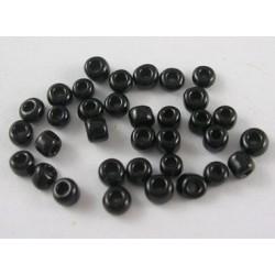 Glasperlen Rocailles schwarz