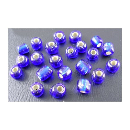 Glasperlen Rocailles blau