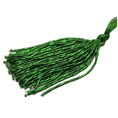 Twisted Bead Droppers Emerald