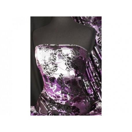 Stretch-Samt Midnight Purple (England)
