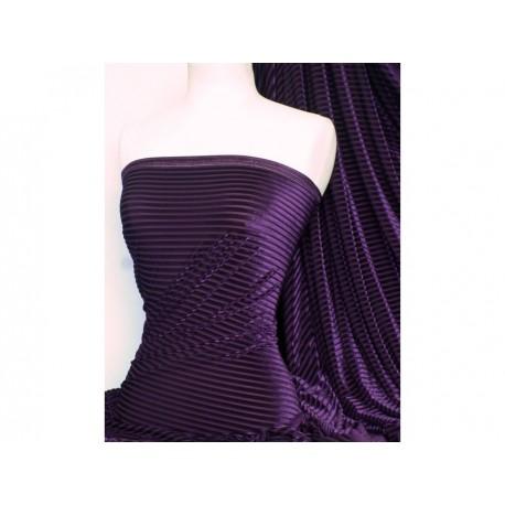 Stretch-Samt Purple gestreift (England)