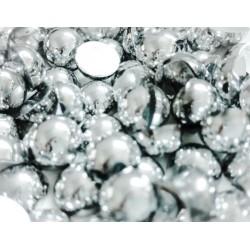 Halbperlen Silber