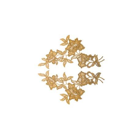 GLAMOUR MOTIV SPITZE - GOLD