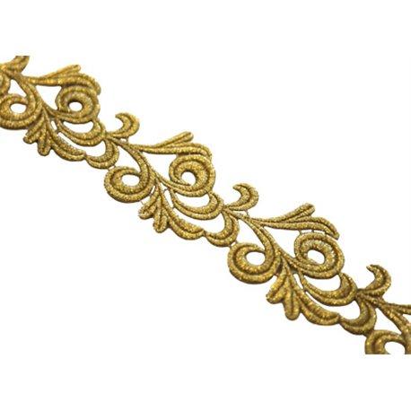 VICTORIA LACE RIBBON - GOLD