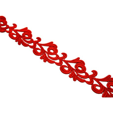 VICTORIA LACE RIBBON - FLAMENCO