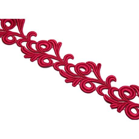 VICTORIA LACE RIBBON - BURGUNDY