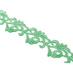 VICTORIA LACE RIBBON - PEPPERMINT
