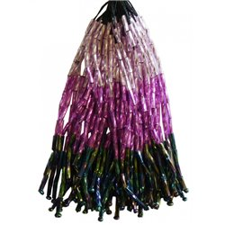 TWISTED BEAD DROPPERS SHADED Lilac / Volcano