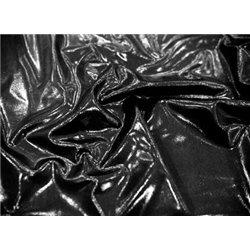 METALLIC MICRO DOT LYCRA – BLACK – Chrisanne Clover