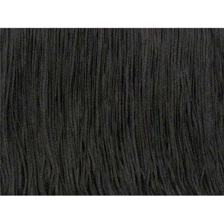 TACTEL FRINGE 45CM – BLACK – Chrisanne Clover