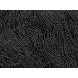 TACTEL STRETCH FRINGE 30CM - BLACK