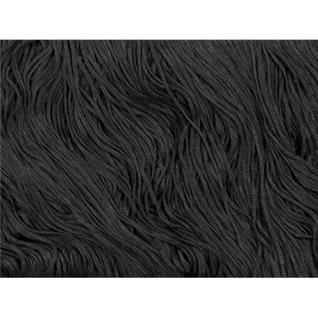 TACTEL STRETCH FRINGE 30CM - BLACK