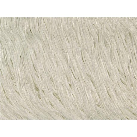 TACTEL STRETCH FRINGE 30CM - WHITE