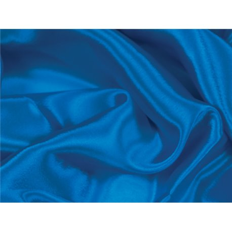 SATIN CHIFFON ELECTRIC BLUE