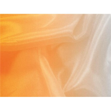 SHADING ON SATIN CHIFFON - SAFFRON-WHITE – Chrisanne Clover