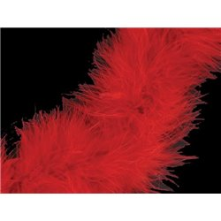 MARABOU BOA - RED – Chrisanne Clover