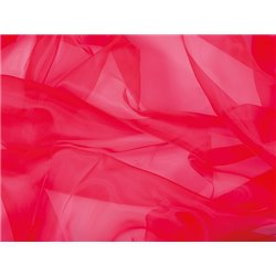 CRYSTAL ORGANZA - FLUORESCENT RED – Chrisanne Clover