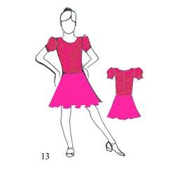 Basickleid 13 - Pink - Größe 122/128