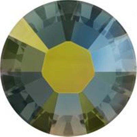 Swarovski® 2078 Crystal Iridescent Green Xirius Rose Hotfix, SS3
