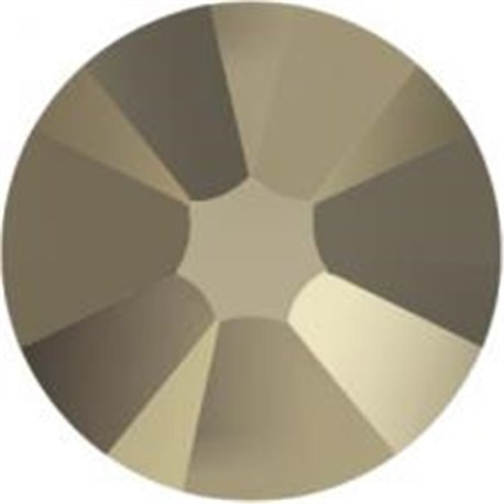 Swarovski® 2078 Crystal Metallic Light Gold Xirius Rose Hotfix,