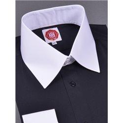Tänzerhemd (schwarz-weiß)