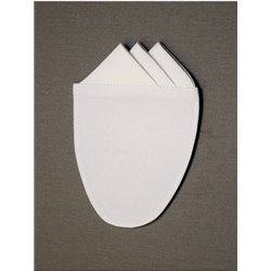 Einstecktuch (weiß), 3 Piquéspitzen