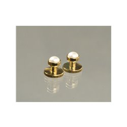 Brustknopf, gold-perlmutt