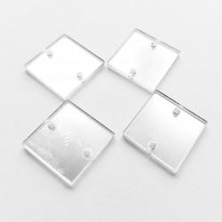Aufnähspiegel Quadrat 15mm Farbe 1