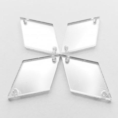 Aufnähspiegel Rhombus 15x25 Farbe 1