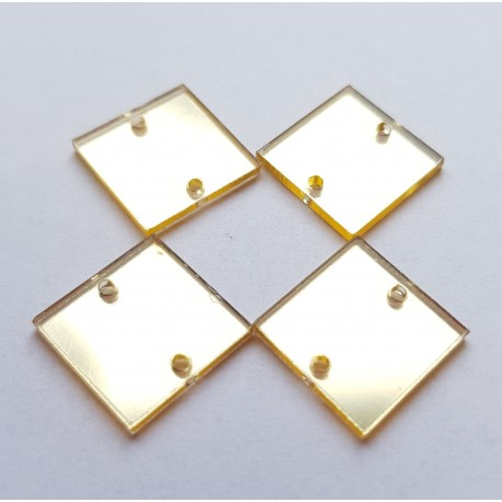 Aufnähspiegel Quadrat 15mm Farbe 2