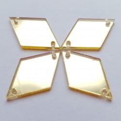 Aufnähspiegel Rhombus 15x25 Farbe 2