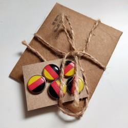 Magnet-Pins für Rückennummern mit Deutschlandfahne
